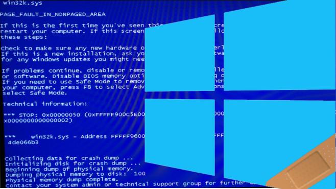 Bluescreens statt Sicherheit©Microsoft, COMPUTER BILD-Montage