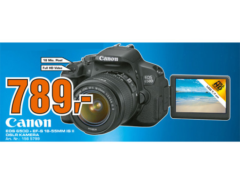 Canon EOS 650D Kit 18-55 mm © Saturn