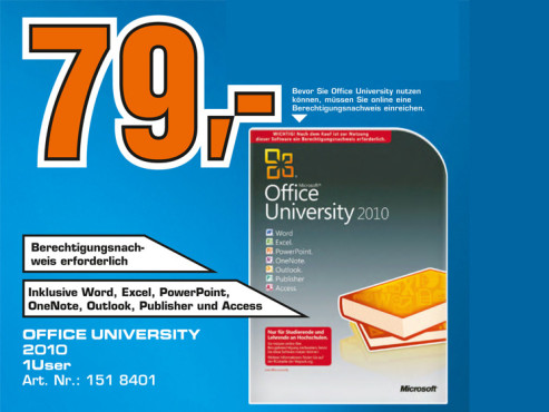 Microsoft Office University 2010 (EDU) (Win) (DE) © Saturn