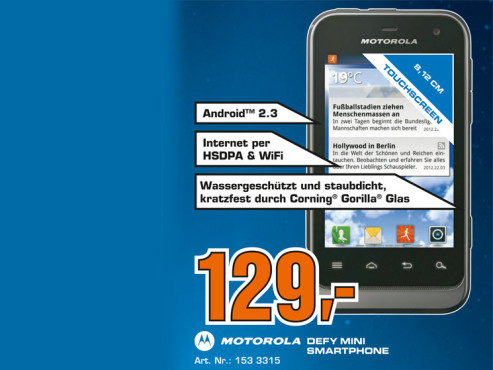Motorola Defy Mini (XT320) © Saturn