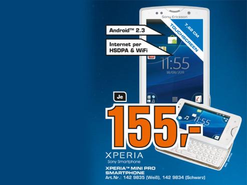 Sony-Ericsson Xperia Mini Pro ©Saturn