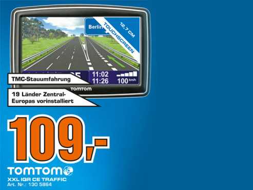 TomTom XXL IQ Routes Central Europe Traffic © Saturn