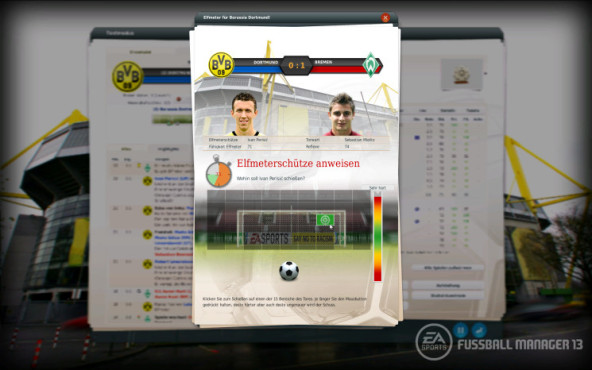 Simulation Fußball Manager 13: Elfer © Electronic Arts