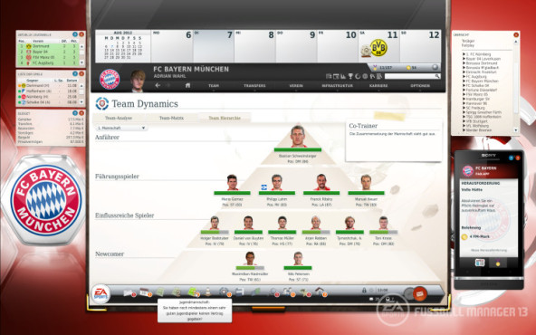 Simulation Fußball Manager 13: Leader © Electronic Arts