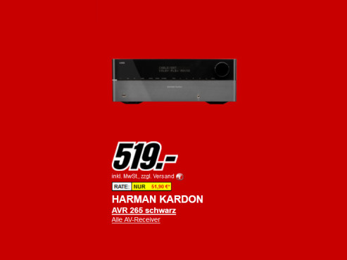 Harman-Kardon AVR 265 © Media Markt