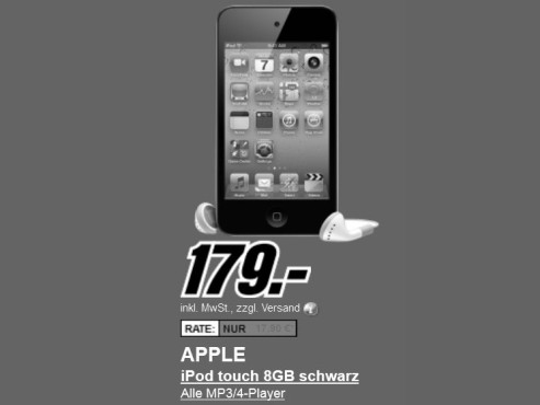 Neu dabei: Apple iPod touch 4G 8GB © Media Markt