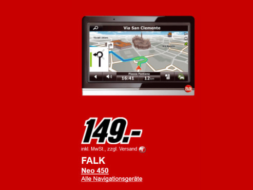 Neu dabei: Falk NEO 450 ©Media Markt