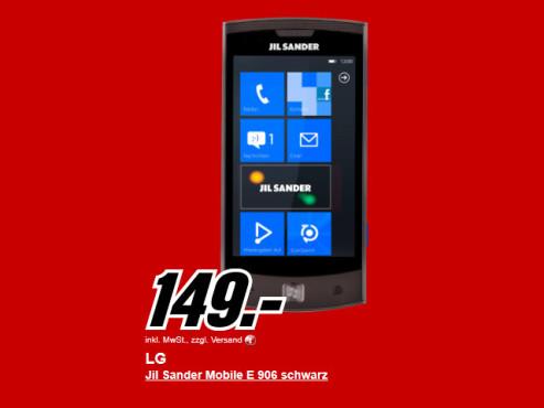 Neu dabei: LG Jil Sander Mobile ©Media Markt
