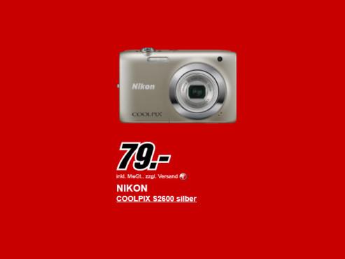 Neu dabei: Nikon COOLPIX S2600 ©Media Markt