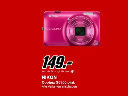 Neu dabei: Nikon COOLPIX S6300 ©Media Markt
