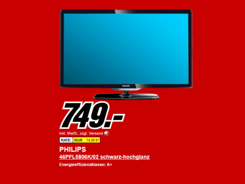 Neu dabei: Philips 46PFL5806K © Media Markt