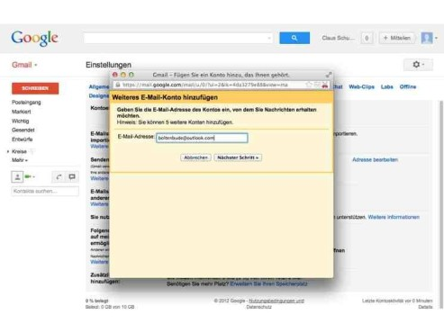 Screenshot GMail © COMPUTER BILD