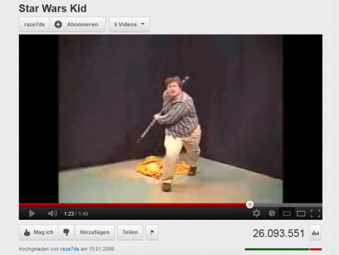 """Star Wars Kid"" © YouTube"