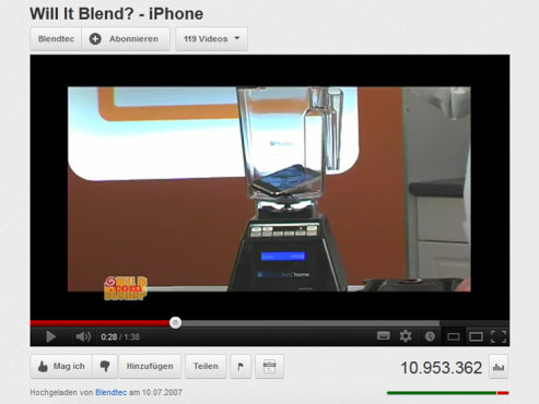 �Will It Blend? - iPhone� © YouTube