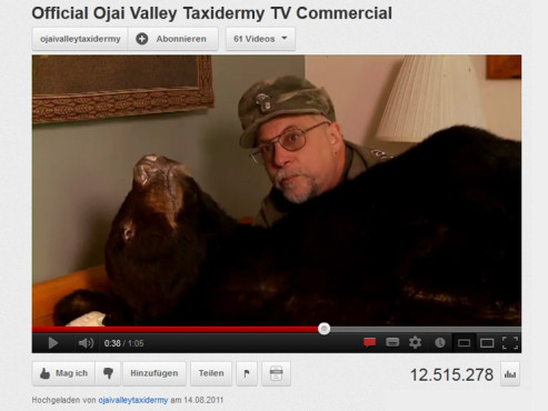 Official Ojai Valley Taxidermy TV Commercial © YouTube