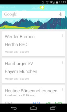 Google Now Sport © COMPUTER BILD