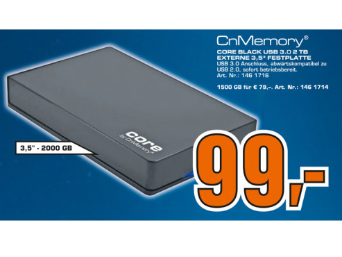 CnMemory 3.5 Core USB 3.0 2TB © Saturn