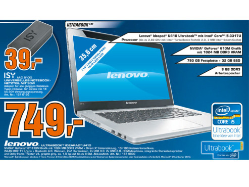 Lenovo IdeaPad U410 © Saturn