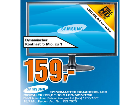 Samsung SyncMaster S24A300BL ©Saturn