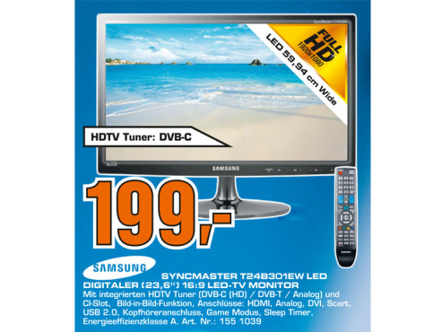 Samsung SyncMaster T24B301EW ©Saturn