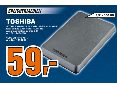 Toshiba Stor.e Basics 500GB © Saturn