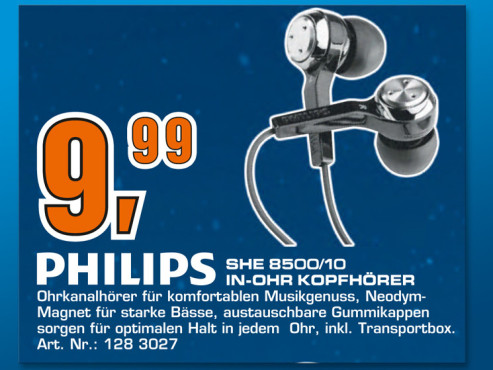 Philips SHE8500 © Saturn