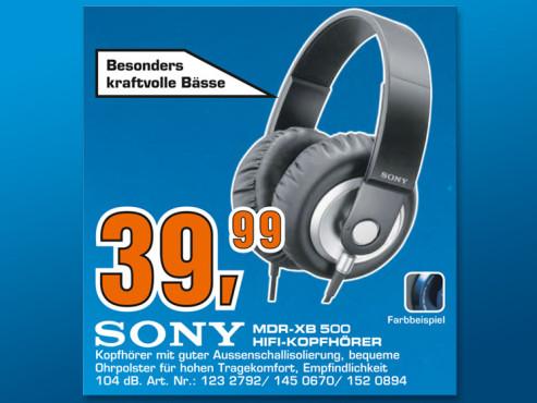 Sony MDR-XB500 ©Saturn