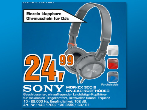 Sony MDR-ZX300 © Saturn