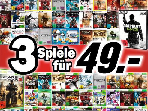 3 Spiele für 49 Euro ©Media Markt