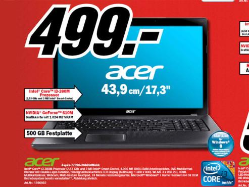 Acer Aspire 7739G ©Media Markt