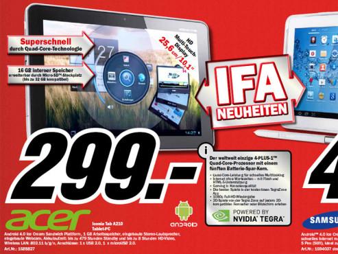 Acer Iconia Tab A210 ©Media Markt