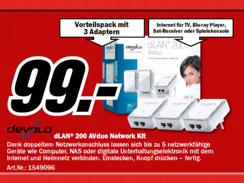 Devolo dLAN 200 AVduo – Network Kit © Media Markt