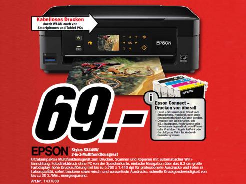 Epson Stylus SX445W ©Media Markt