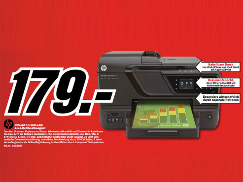 HP Officejet Pro 8600 © Media Markt