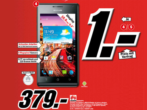 Huawei Ascend P1 © Media Markt