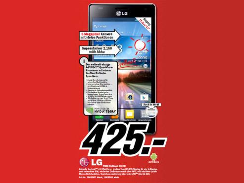 LG Optimus 4X HD P880 ©Media Markt