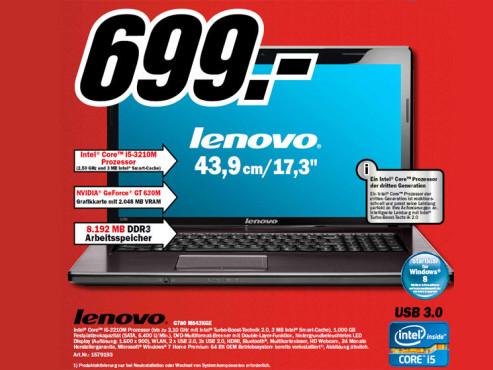 Lenovo G780 M843KGE ©Media Markt