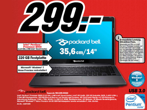 Packard Bell EasyNote NS11HR © Media Markt