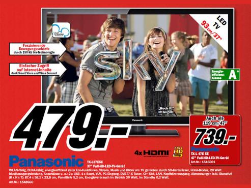 Panasonic TX-L37E5 ©Media Markt