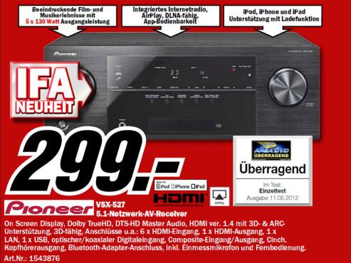 Pioneer VSX-527-K ©Media Markt