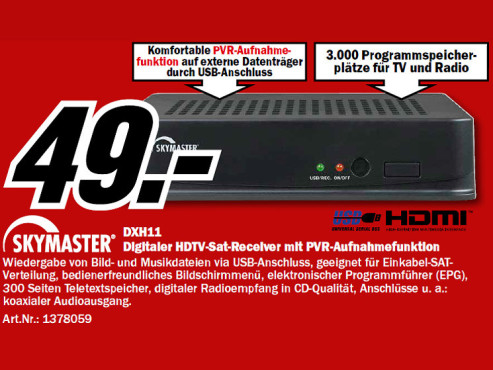 Skymaster DXH 11 ©Media Markt