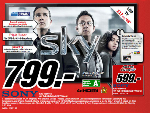 Sony KDL-46EX655 ©Media Markt