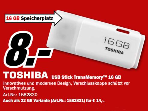 Toshiba TransMemory 16 GB ©Media Markt
