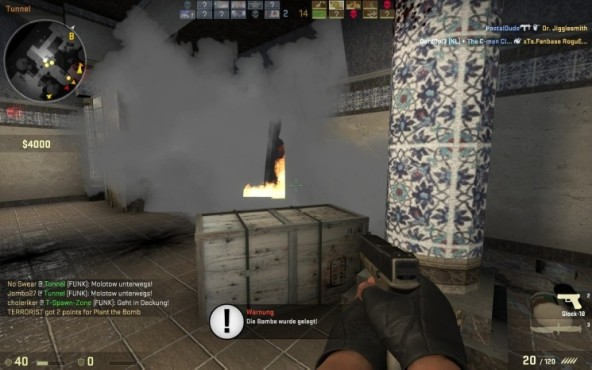 Online-Actionspiel Counter-Strike – Global Offensive: Feuer © Valve