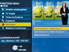 Bildschirmmen� Panasonic DMR-BDT720 ©COMPUTER BILD