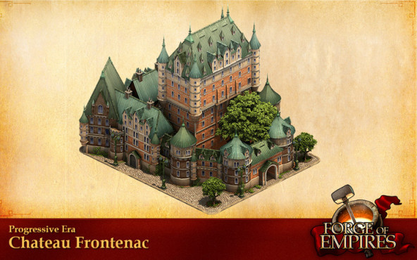 Forges of Empire: Monumentale Bauwerke Château Frontenac ©InnoGames
