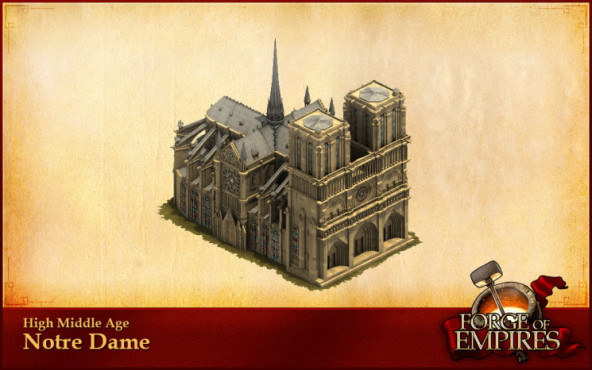 Forges of Empire: Monumentale Bauwerke Notrè Dame ©InnoGames
