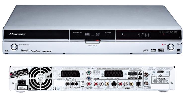 test pioneer dvr 545h dvd rekorder mit festplatte audio video foto bild. Black Bedroom Furniture Sets. Home Design Ideas