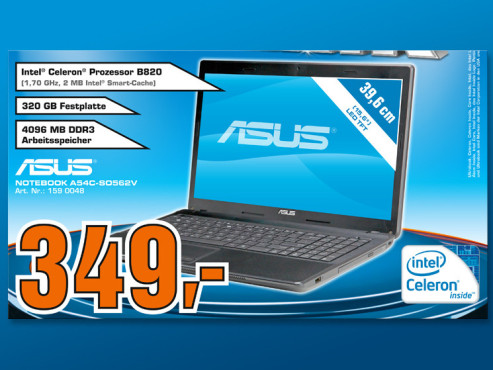 Asus Notebook A54C-SO562V © COMPUTER BILD