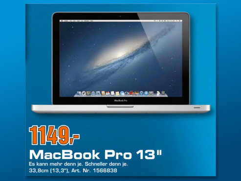 "MacBook Pro 13"" MD101D/A © COMPUTER BILD"